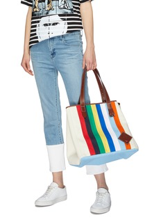 JW Anderson Belt handle stripe tote