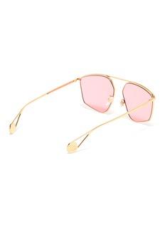 Gucci Angular frame metal sunglasses