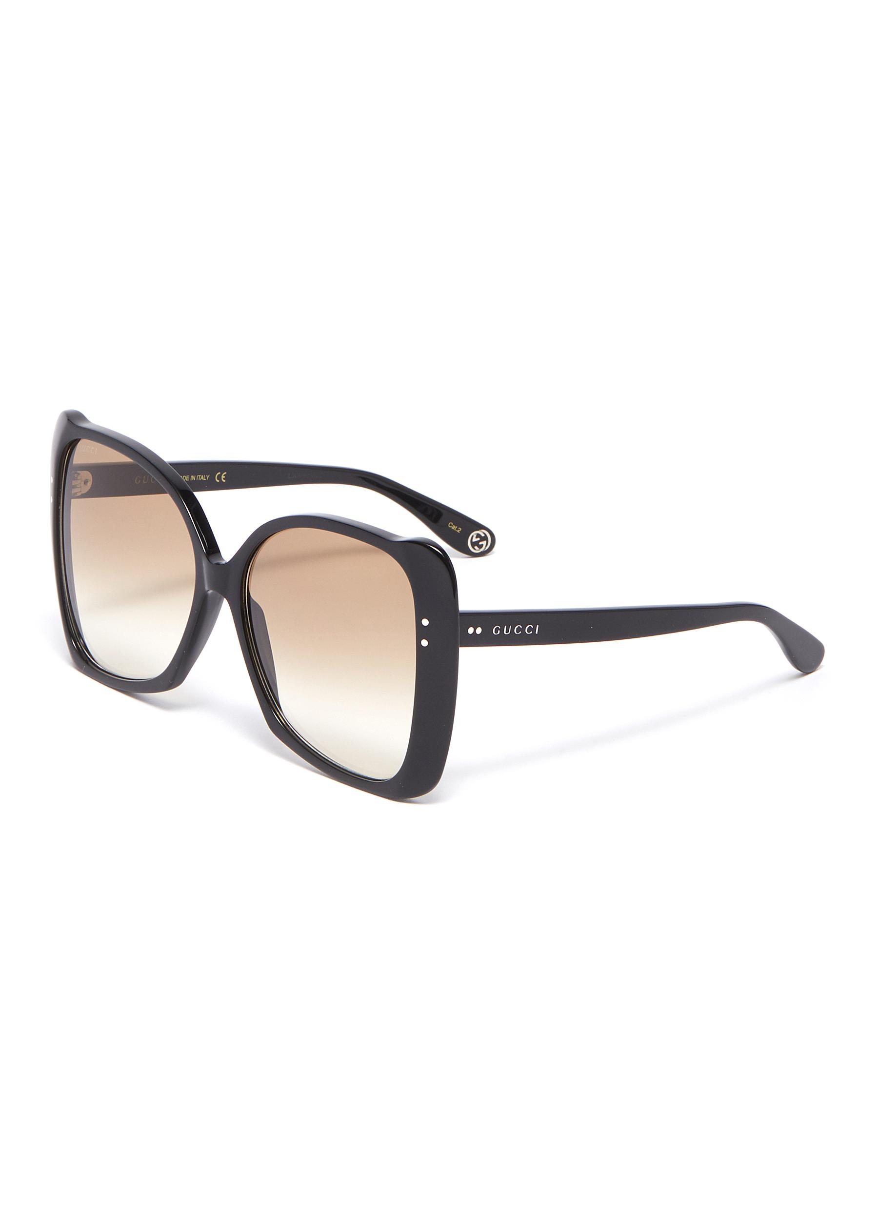 2c870b4fccb Gucci. Oversized acetate butterfly sunglasses