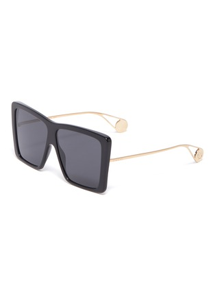 93f219cf164 Gucci Oversized acetate front metal square sunglasses ...
