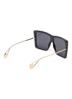 Gucci Oversized acetate front metal square sunglasses