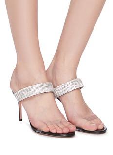 Aquazzura 'Spritz Plexy' strass and PVC band sandals