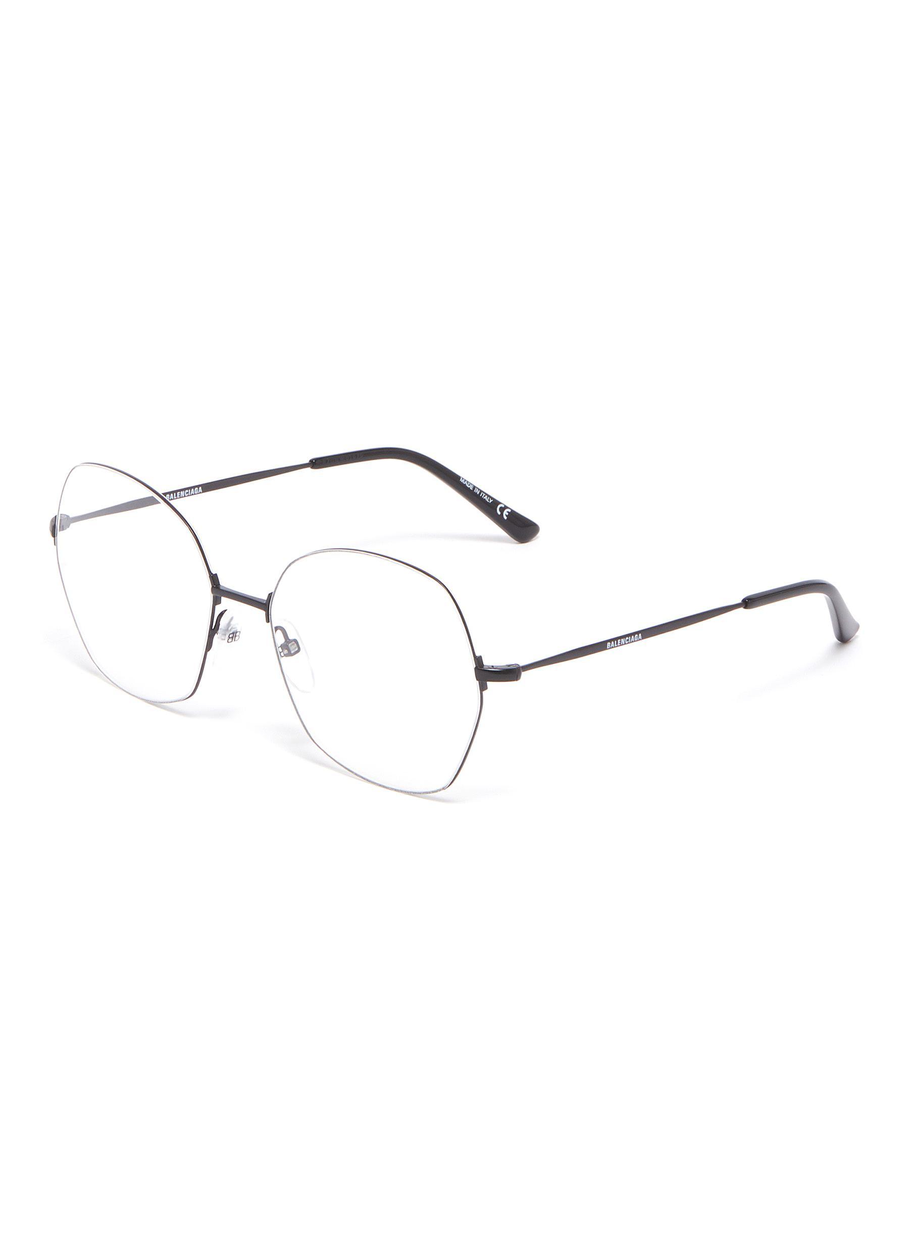 0c6eeae6de Main View - Click To Enlarge - Balenciaga - Metal geometric frame optical  glasses