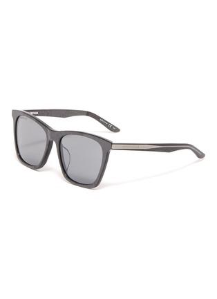 Main View - Click To Enlarge - Balenciaga - Acetate oversized square sunglasses