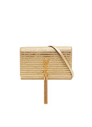 79af43f455c SAINT LAURENT 'Kate' tassel stripe metallic leather crossbody bag