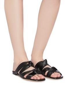 Rosetta Getty 'Twist' leather band slide sandals