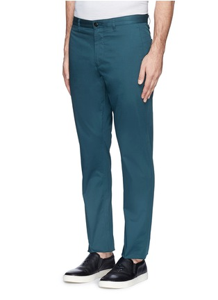 Front View - Click To Enlarge - THEORY - 'Zaine' cotton blend twill pants