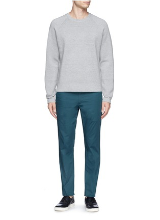 Figure View - Click To Enlarge - THEORY - 'Zaine' cotton blend twill pants