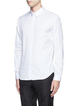 Front View - Click To Enlarge - Theory - 'Zack' cotton piqué shirt