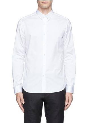 Main View - Click To Enlarge - Theory - 'Zack' cotton piqué shirt