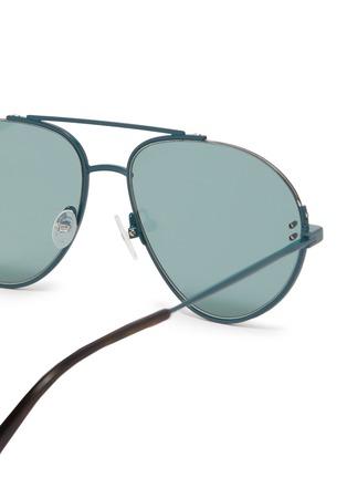 Detail View - Click To Enlarge - Stella McCartney - Cutout metal aviator sunglasses