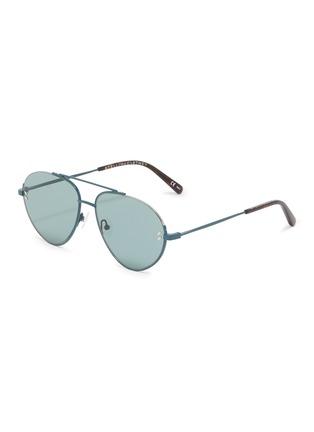 Main View - Click To Enlarge - Stella McCartney - Cutout metal aviator sunglasses