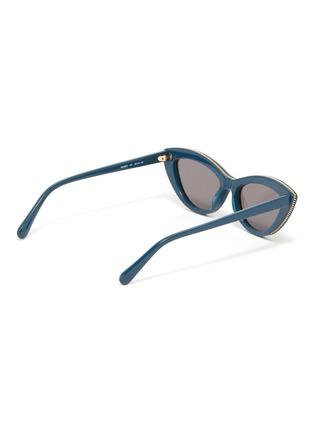 Figure View - Click To Enlarge - STELLA MCCARTNEY - Chain rim acetate cat eye sunglasses