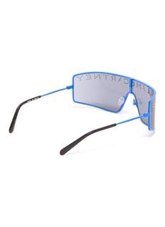 Stella McCartney Stud logo single lens metal oversized sunglasses