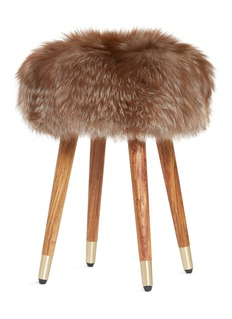 KRUF Onyx fox fur stool