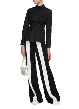 Figure View - Click To Enlarge - EQUIL - Pleated waist shirt