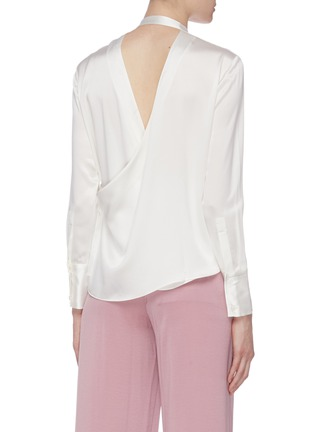 Back View - Click To Enlarge - EQUIL - Dape open back silk satin shirt