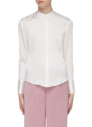 Main View - Click To Enlarge - EQUIL - Dape open back silk satin shirt