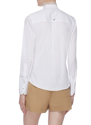 Back View - Click To Enlarge - EQUIL - Lace trim mandarin collar shirt