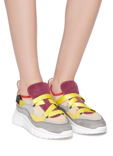 Chloé 'Sonnie' chunky outsole low top patchwork sneakers