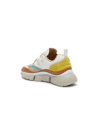 - CHLOÉ - 'Sonnie' chunky outsole low top patchwork sneakers