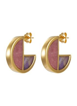 Main View - Click To Enlarge - W. BRITT - 'Full Circle' stone geometric earrings
