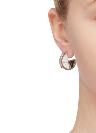 Figure View - Click To Enlarge - W. BRITT - 'Full Circle' stone geometric earrings