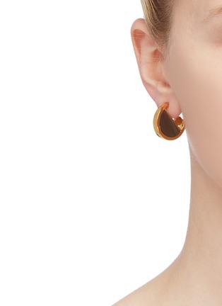 Figure View - Click To Enlarge - W. BRITT - 'Full Circle' stone geometric earrings
