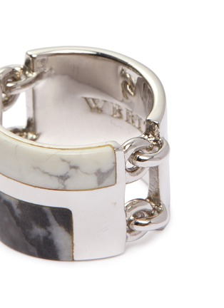 Detail View - Click To Enlarge - W. BRITT - Zebra stone howlite link silver ring