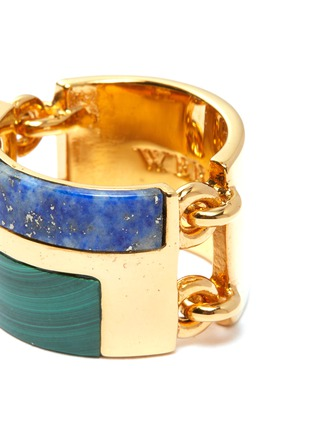 Detail View - Click To Enlarge - W. BRITT - Malachite lapis link silver ring