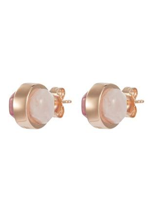 Main View - Click To Enlarge - W. BRITT - 'Cylinder' rose quartz rhondonite stud earrings