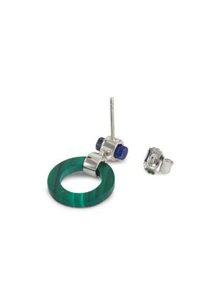 Detail View - Click To Enlarge - W. BRITT - 'Full Circle' malachite lapis drop earrings