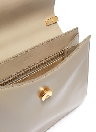 Detail View - Click To Enlarge - CHLOÉ - 'Chloé C' suede panel medium leather shoulder bag