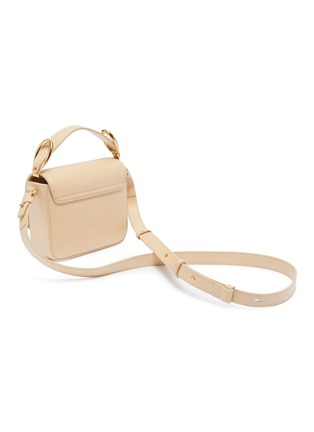 Detail View - Click To Enlarge - CHLOÉ - 'Chloé C' suede panel mini leather top handle bag