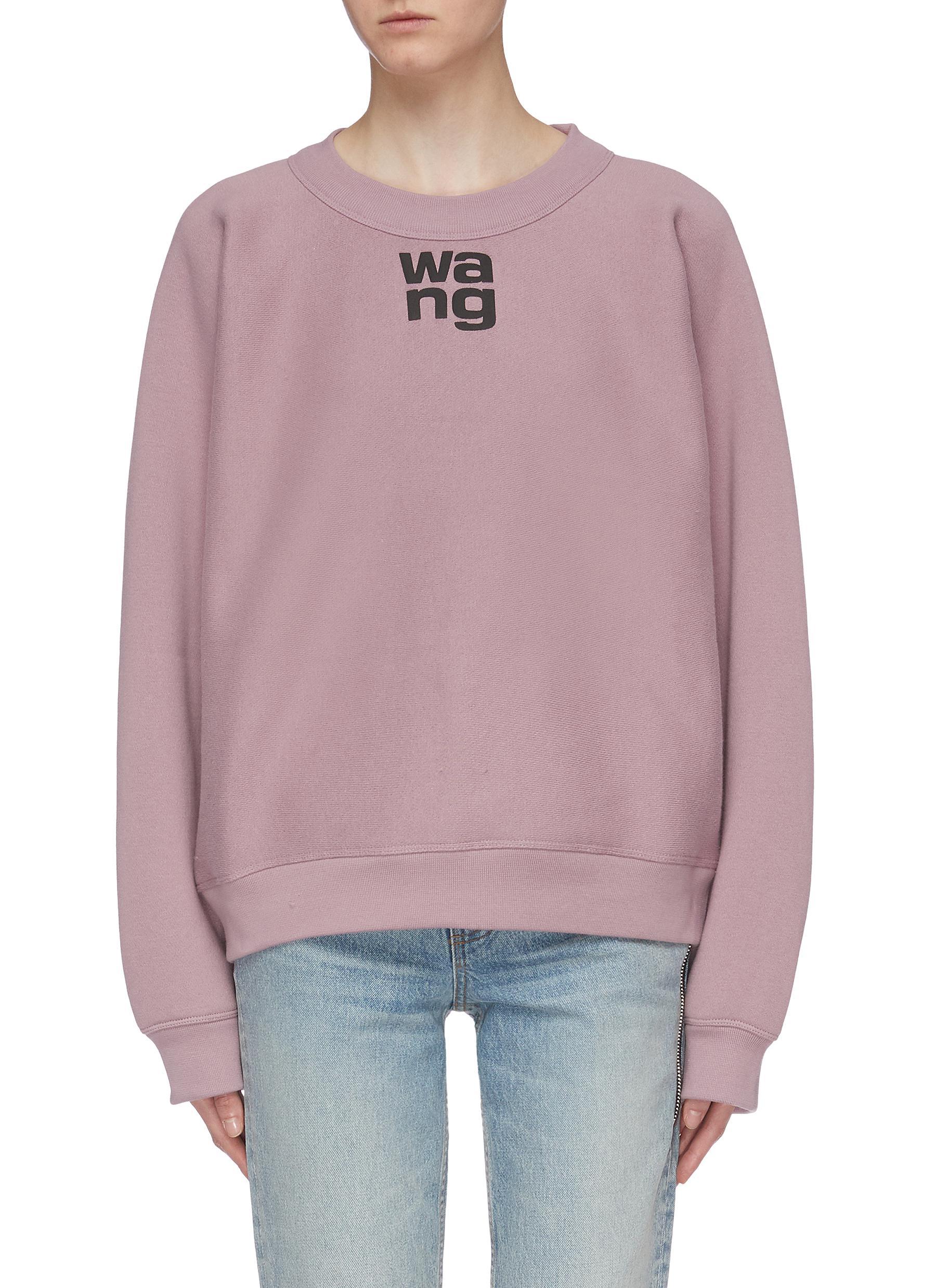 Wash + Go logo print oversized sweatshirt by Alexanderwang.T