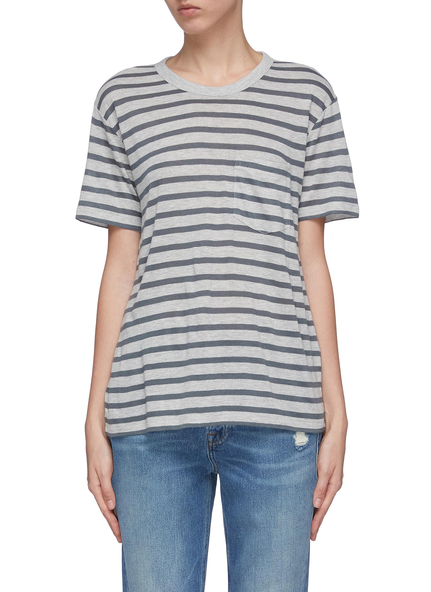 Chest pocket stripe T-shirt by Alexanderwang.T