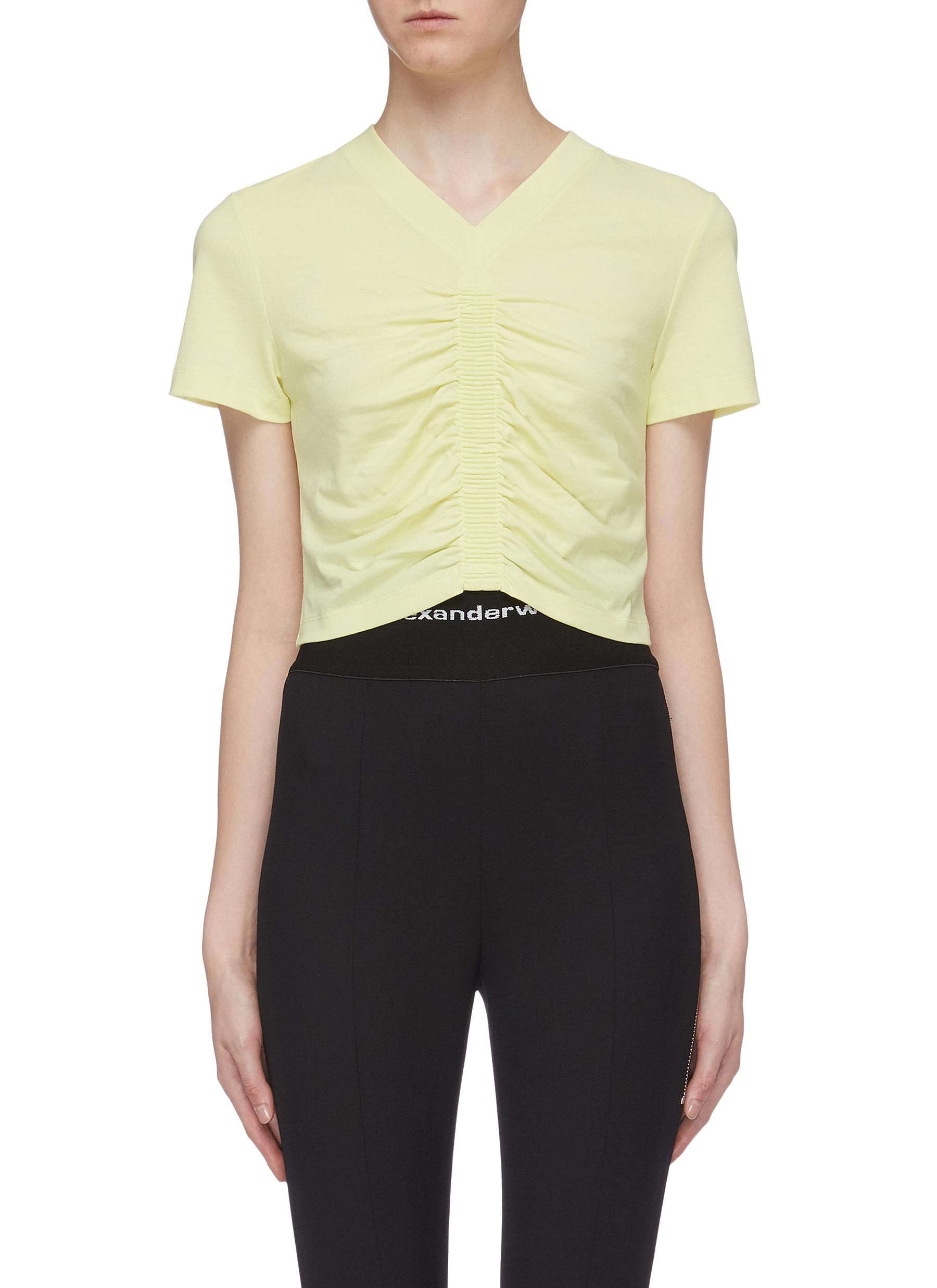 Wash + Go ruched cropped top by Alexanderwang.T