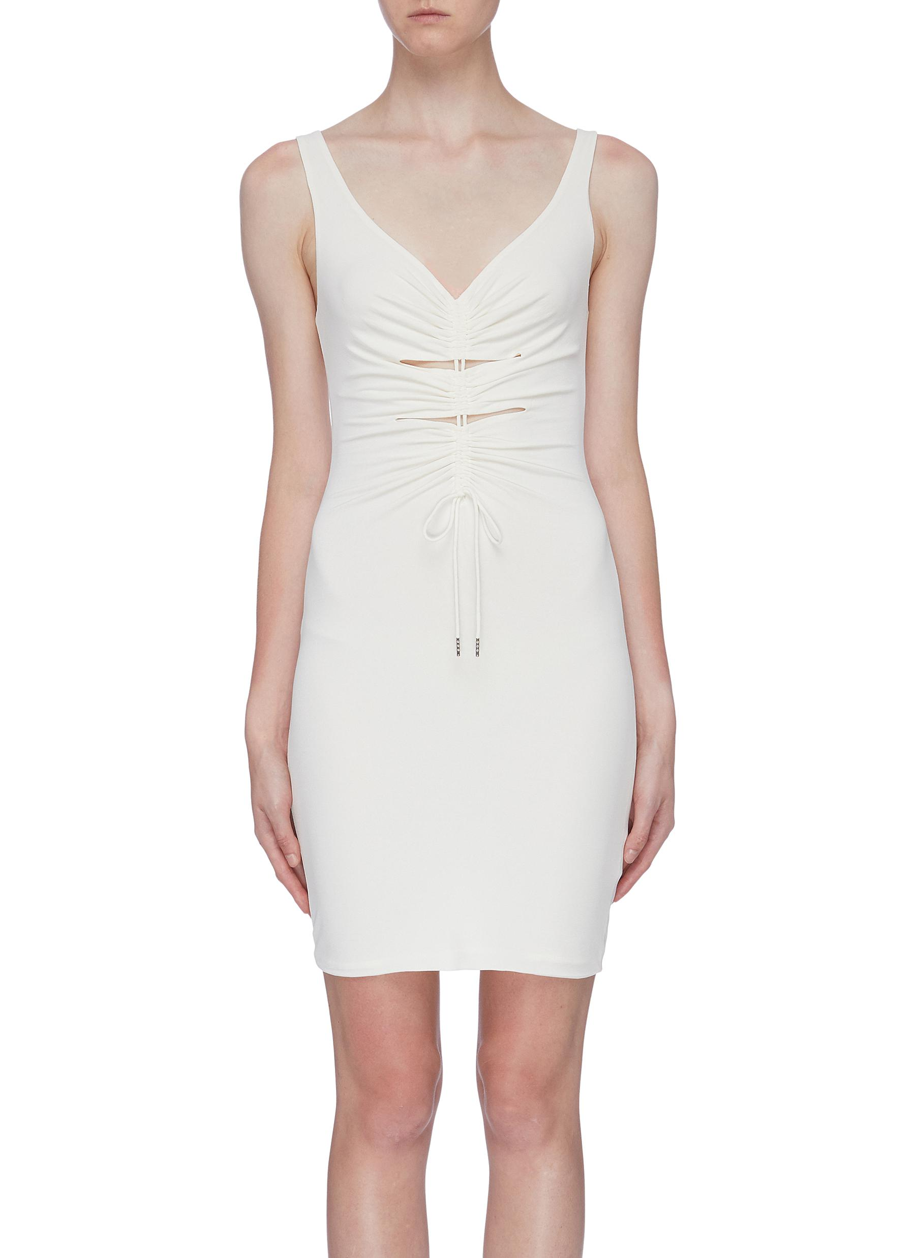 Cutout ruched sleeveless dress by Alexanderwang.T