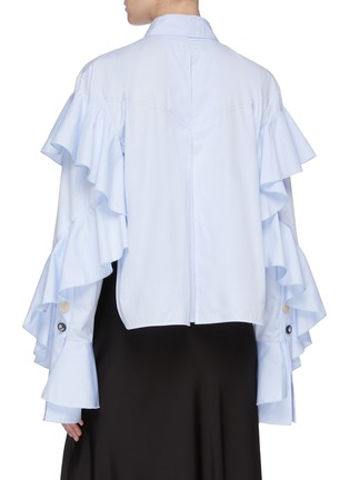 Back View - Click To Enlarge - ELLERY - 'Voltaire' ruffle sleeve shirt
