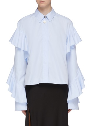 Main View - Click To Enlarge - ELLERY - 'Voltaire' ruffle sleeve shirt