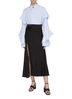 ELLERY 'Suite One' asymmetric side split skirt