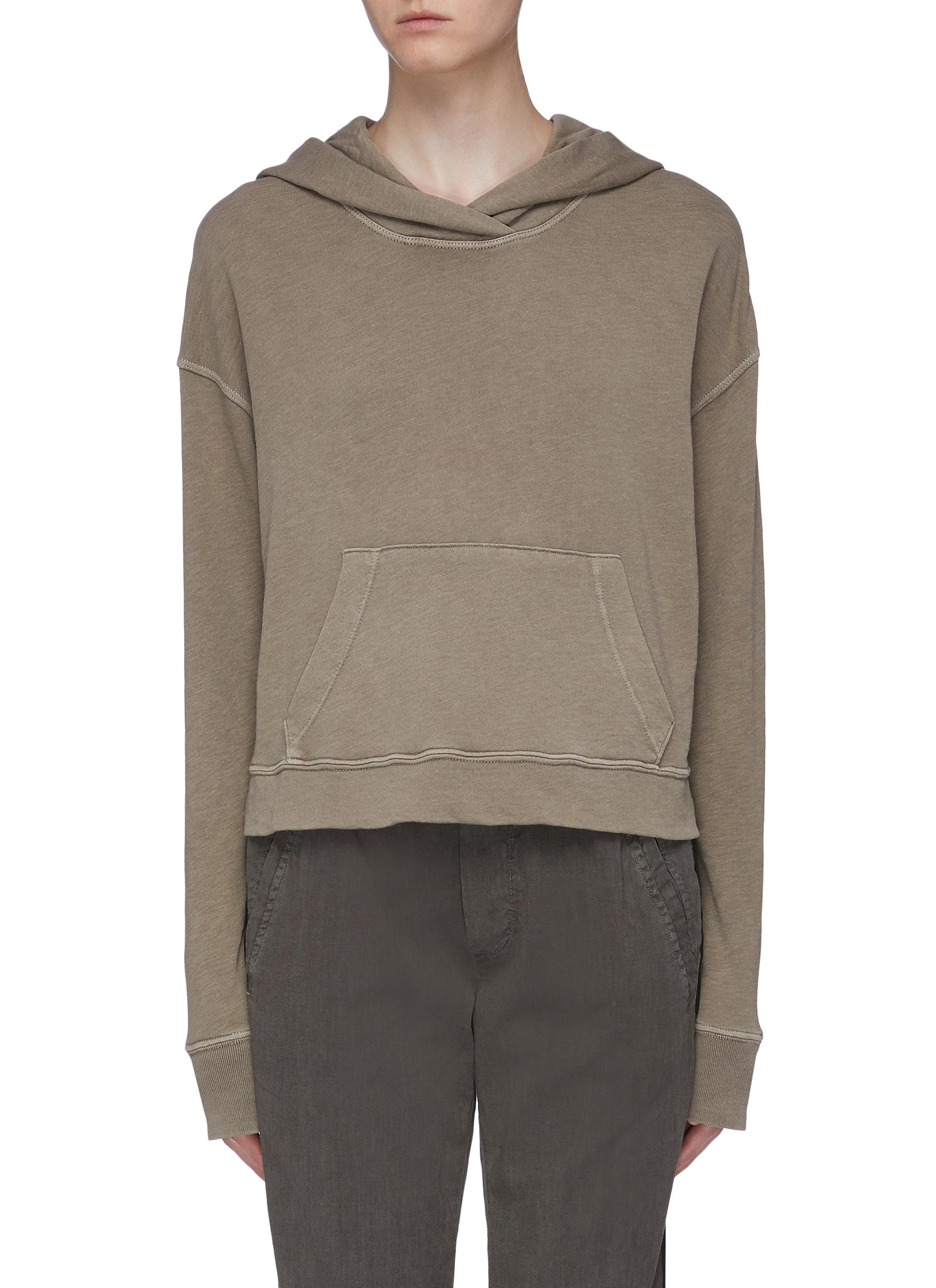 Vintage cropped Supima®Cotton hoodie by James Perse