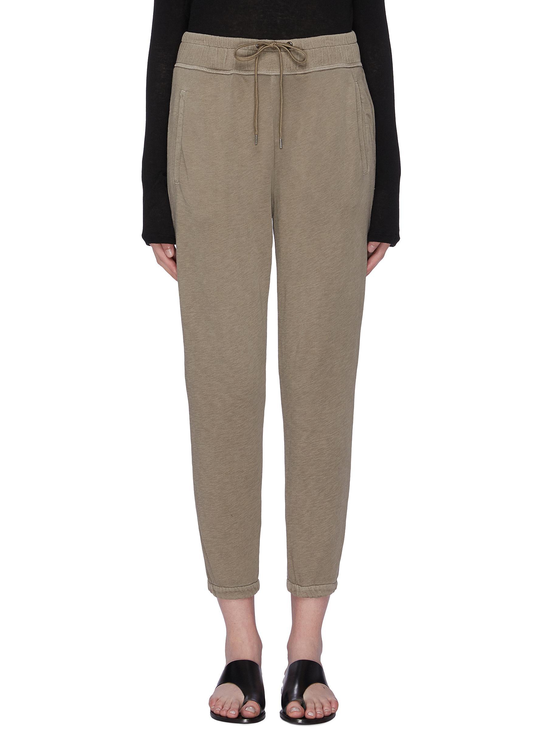 Vintage overlock stitching Supima®Cotton sweatpants by James Perse
