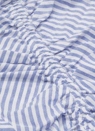 - CURRENT/ELLIOTT - 'The Ocean Walk' tiered ruffle hem stripe slip dress