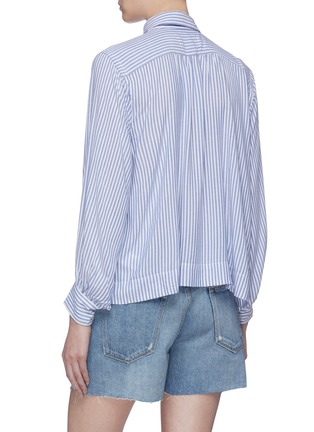 Back View - Click To Enlarge - CURRENT/ELLIOTT - 'The Emmy' stripe half-placket blouse