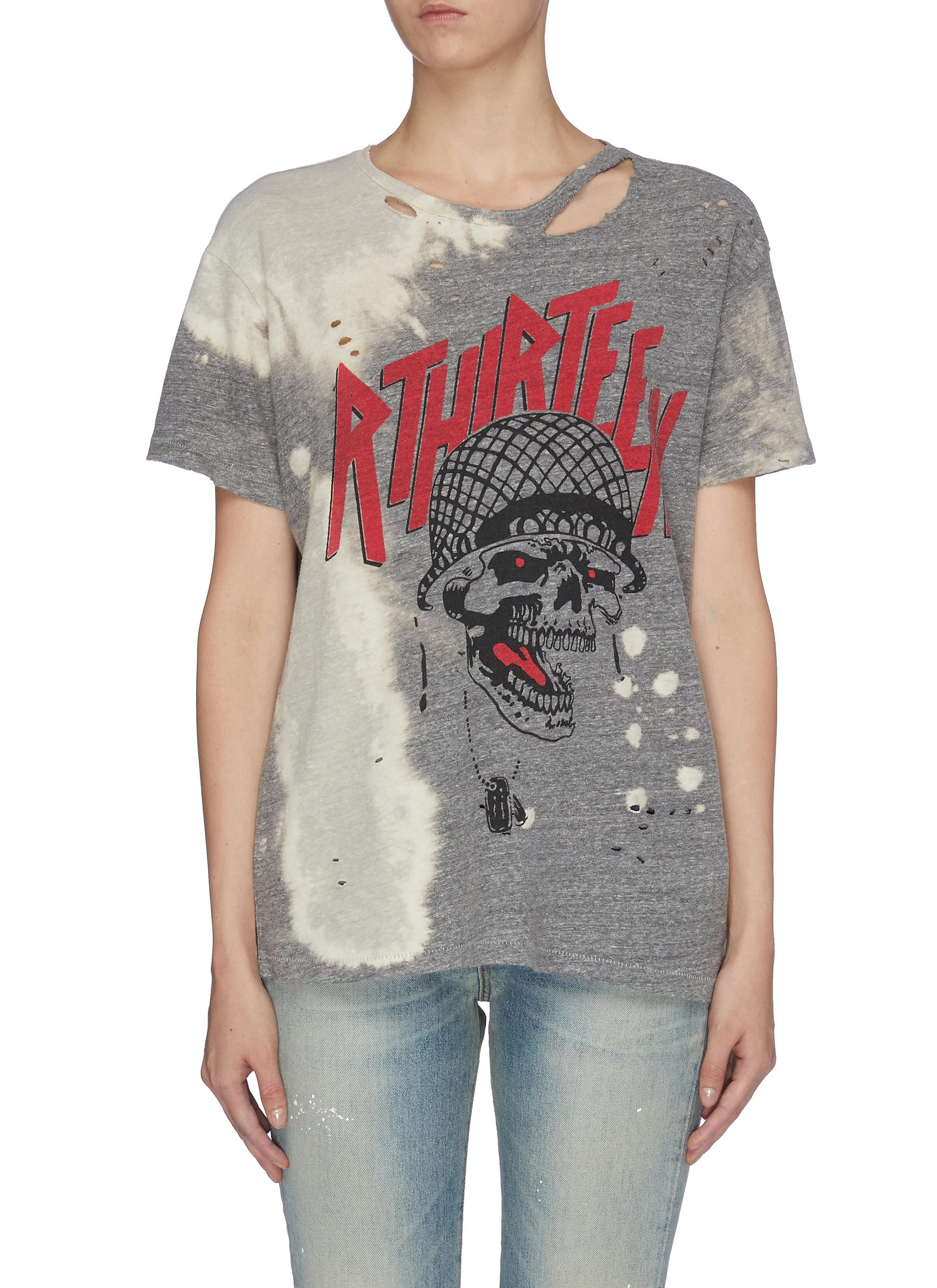 Battle Punk Boy distressed graphic print T-shirt by R13