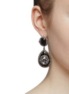 Alexander McQueen Glass crystal teardrop earrings