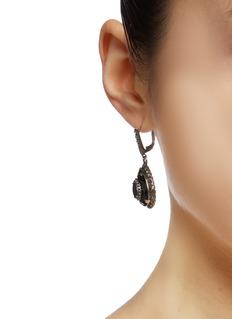Alexander McQueen Glass crystal small teardrop earrings