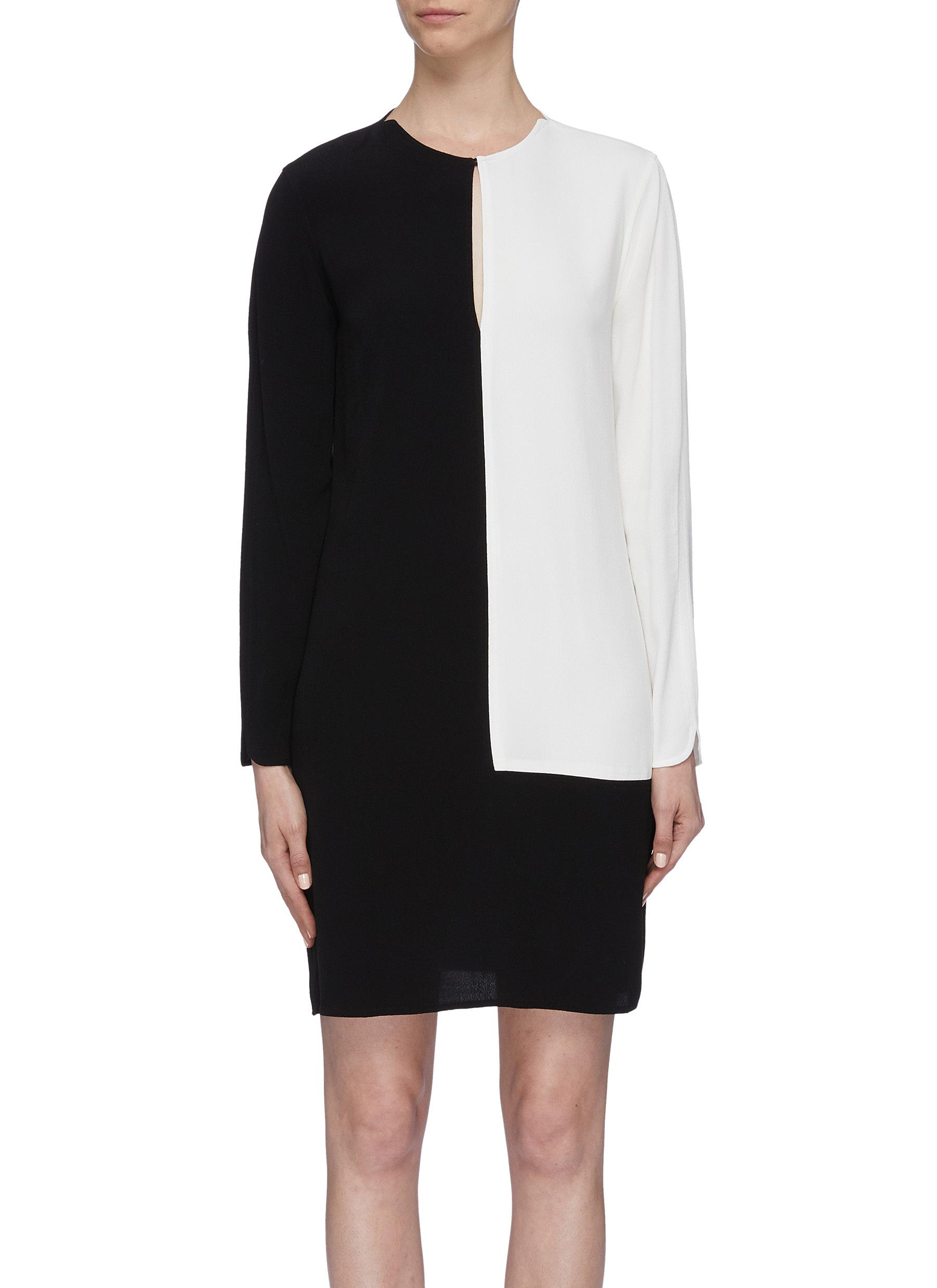 Tatienne colourblock keyhole front dress by Equipment