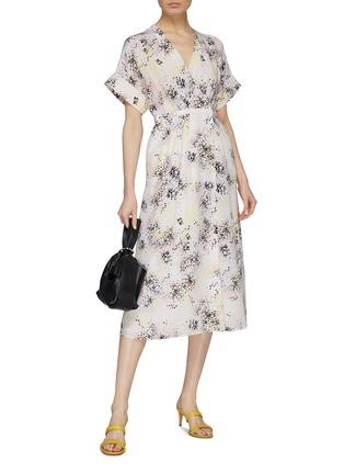 Figure View - Click To Enlarge - Equipment - 'Tavine' floral print silk crepe wrap dress